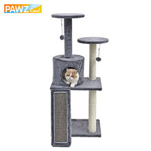 New H116cm Cat Toy Climbing Furniture Fun Cat Scratching Solid Wood for Cat House Frame Kitten Climbing Products(China)