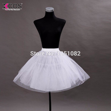 White Tulle Girls Petticoat Slip With No Hoop Short Underskirt Ball Gown Wedding Dress 2016 New Arrival