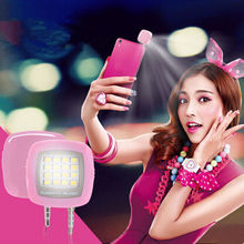 Built-in LED Selfie Flashlight Photography Sync Selfie Flash Light for iPhone Samsung LG Sony Fill-in Light 16pcs Led Bulbs Lamp