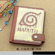The new 2016 cartoon purse wallet vertical section wallet Naruto Kakashi Naruto multicolor printing multiple choice style
