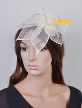 NEW 6 colours ARRIVAL! Ivory cream sinamay hat fascinator flower fascinator for kentucky derby Races Wedding.FREE SHIPPING.