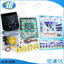 Casino slot game machine DIY kit for Mario game PCB board Acrylic power supply coin hopper button coin acceptor wires(China)