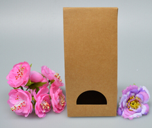 8*6.5*18cm Custom Kraft Paper Stand Up bag food packaging paper bag Toast Bread/hot Dog/cake packaging Bag