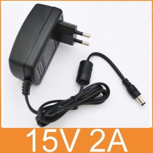 1PCS high quality 15V2A AC 100V-240V Converter Adapter DC 15V 2A 2000mA Power Supply EU Plug  5.5mm x 2.1-2.5mm