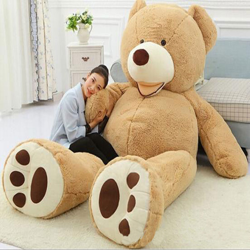Huge Size 260cm Giant Bear Skin Empty Soft Huge Big Bear Toys Comfortabling Plush Valentine's Day Love Gifts Toys for Lovers(China (Mainland))