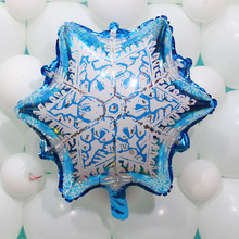10pcs 58*50cm Princess Snowflake Foil Balloons Weeding/Birthday Party Decoration Snow Balloon Kid's Toy Gift
