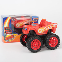 Pull Back!!New Toy Car With Retail Box Blaze Monster Machines Russia Miracle Cars Kid Toys Vehicle Car Transformation Toys 2017