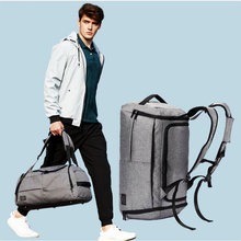 35L Men Multi-function Gym Bag Black/Gray Large Capacity Sport Backpack Male Outdoor Basketball Training Crossbody Shoulder Bag(China)