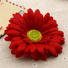 5pcs 10cm Large Silk Gerbera Artificial Flower Head For Wedding Car Decoration DIY Garland Decorative Floristry Flowers(China)