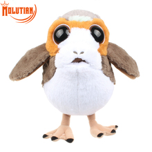 Sitting Height 23cm New Porg Bird Plush Toy Cartoon Movie Character Porg Doll Kids Birthday Christmas Gift(China)