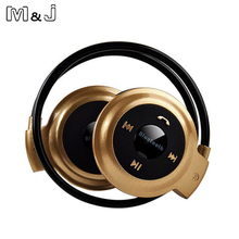 M&J Mini 503 Neckband Sport Wireless Bluetooth Hands free Stereo Headphone Earphone FM Radio with Mic for Iphone Samsung