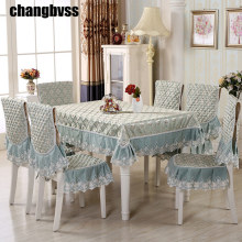 2017 Quality Luxury Lace Tablecloth 9pcs/set Embroidered Tablecloth Table Cover Wedding Decoration Table Cloths toalha de mesa(China)