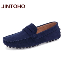 JINTOHO Summer Fashion Men Casual Shoes High Quality Men Genuine Leather Shoes Luxury Brand Men Boat Shoes Slip On Men Flats(China)