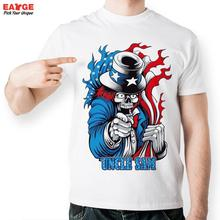 [EATGE]Skull Uncle Sam Stars Stripes T Shirt Design Inspired By Magician T-shirt Cool Fashion Novelty Funny  Men Women Print Tee