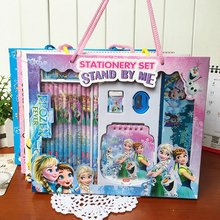 Disney 18 Pcs/Set Cartoon Anime Frozen Stationery Sets For Children Gifts School Supplies Student 18 Pcs Pencil Sets(China)