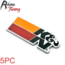 Rhino Tuning 5Pcs Auto Styling Metal K&N Car Badge Sticker Emblem For Elantra Veloster Accent 094