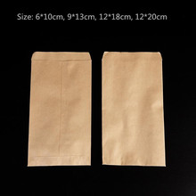 100pcs/lot-6*10cm Blank High Quality Kraft Paper Bag Seeds Storage Bags Handmade Soap Sample Gift bags 4 sizes options(China)