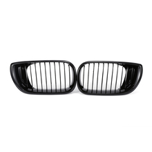 Front Grill For BMW E46 318I 320I 325I 330I 2002-2005 Pair Front Wide Kidney Grille Grill Gloss Black Kidney Grille Front Bumper