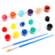 12 Colors Acrylic Paints with Brushes Pigment Set Textile Fabric Hand Painted Wall Oil Painting Drawing Tool For Kids DIY