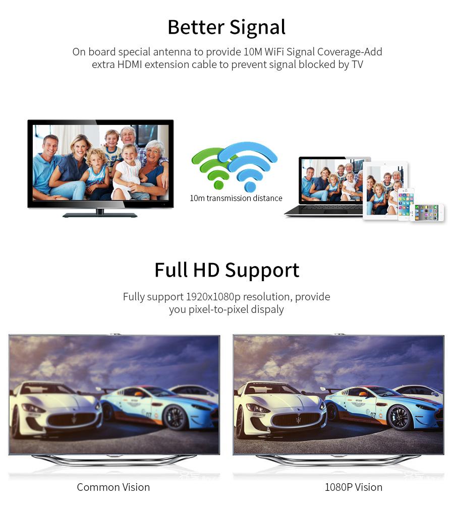 عرض لاسلكي من الهواتف الذكية الى التلفاز Mirascreen MX جديد 6