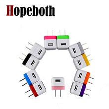 hopeboth 1000pcs US Mini Folding USB AC Power Adapter Wall Charger For iPhone 5 5S 5C 4 4S 3G for Samsung Galaxy HTC Blackberry