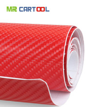 Buy 4D Waterproof Automotive Bubble Free Vinyl Wrap Carbon Fiber Vehicle Sticker Kit Exterior & Interior DIY Decoration, Red for $10.69 in AliExpress store