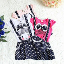 Hi Hi Baby Store Princess Toddler Girl Kid Baby Polka Dot Clothing Dress Child Dress Costume Belt