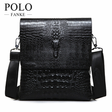 2016 NEW Vertical high quality leather men bag business casual alligator shoulder bag Messenger bag crocodile grain bag TZ6001(China)