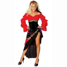 Spanish Mexican Flamenco Latin Dancer Costume Can Can Saloon Dancing Fancy Dress Costume