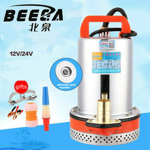 Agricultural DC12V 180W 280W pump battery irrigation car washing bay submersible pump home marine pump garden pump