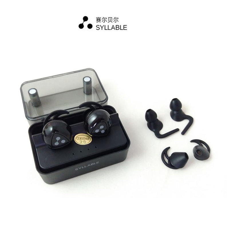Syllable D900MINI Wireless Bluetooth earphones In-ear Design Sweatproof with Mic Bluetooth Devices with Intelligent Charging Box<br>