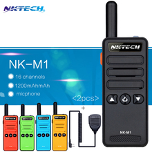 2PCS Mini Walkie-Talkie NK-M1 Frequency Portable  Radio model Super Small Handheld professional FM transceiver +1 Speaker