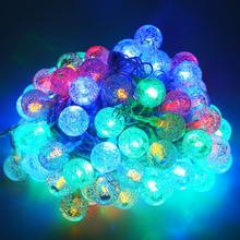 10M 100 LEDs String Lights Waterproof Outdoor Multicolor LED Pebble Ball String Lights Christmas Strip Rope Light Wedding Party