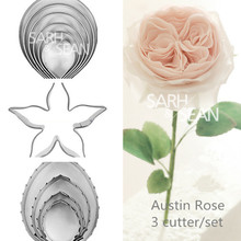 3pcs/set Metal cookie cutters set big rose flower stainless steel tools Home Furnishing products kitchen supplies baking mould