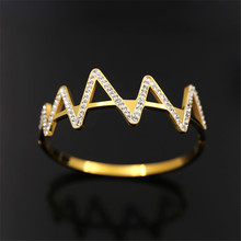OL Female paragraph wave pattern sticky white rhinestones titanium side buckle bracelet china import goods(China)