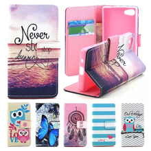 For Coque Sony Xperia Z5 Compact Case Wallet Leather & Silicone Flip Case Sony Xperia Z5 Compact Cover Dream Phone Cases Funda