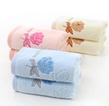 Plaid 100% cotton Face Hand Bath bath face towels 32 cotton stocks rose cut woolwork thick towel(China)