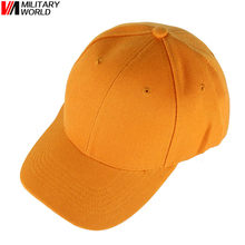 Unisex Summer Breathable Orange Golf Hunting Caps Snapback Baseball Caps Casquette Sports Outdoor Hunting Cycling Fishing Hat(China)