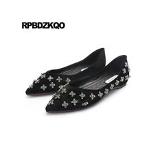 Red Wine Bling Pointed Toe Diamond Black Crystal China Spring Autumn Suede  Women Rhinestone Chinese Wedding Shoes Brand Slip On f617da5aa297