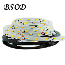 BSOD SMD 5630 Led Strip DC12V 60 leds/m 5m/roll IP33 No Waterproof White/Warm White Flexible High Brightness(China)