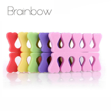 Brainbow 5Pairs/Lot Nail Separator Soft Sponge Foam Finger Toe Separator Nail Art Salon Pedicure Manicure Tools Hand Foot Care(China)