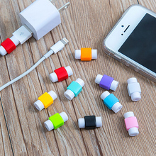 5Pcs/lot Data Line Protection Case Coil Protective Cover For Charging Cable Phone Charging Case Headphone Winder Gifts