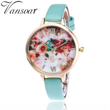 Vansvar New Fashion Floral Flower Watch Garden Beauty Bracelet Women Wrist Watch Luxury Quartz Watch Gift Relogio Feminino V55(China)