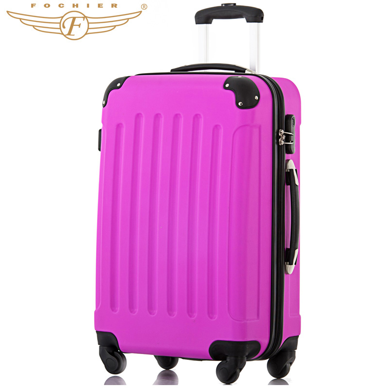 Waterproof Wear-resistant Hardside Purple Trolley Luggage Suitcase 1 Piece 20 24 28 Inches Super Silent 4 Casters Fochier XQ008<br><br>Aliexpress