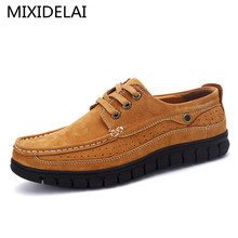Men's Genuine Leather Shoes Business Dress Moccasins Flats Slip On New Men's Casual Shoes Dress Mens Business Shoes 38-44
