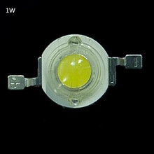 1W LED Bulbs High power 1W LED Lamp Pure White/Warm White 110-120LM 30mil Taiwan Genesis Chip Free shipping(China)