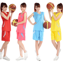Women Basketball Suit Jerseys Shorts  Summer Sweat Breathable Team Training Clothes Girls Sports Kits Customized Number Name