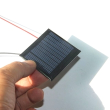 Hot Sale 100PCS/Lot Min Solar Cell With Cable 0.25W 5V Epoxy Solar Panel DIY Small Solar Charger Education Kits Free Shipping(China)