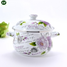 ENAMEL KITCHENWAR UTENSIL CERAM CASSEROLE STOCK POT 1500ML INCUDETION WORK MINI COOKING PAN NICE BUEATIFUL(China)
