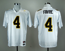 Nike Southern Mississippi Golden Eagles Brett Favre 4 White College Jersey Ice Hockey Jerseys M,L,XL,XXL,3XL(China)